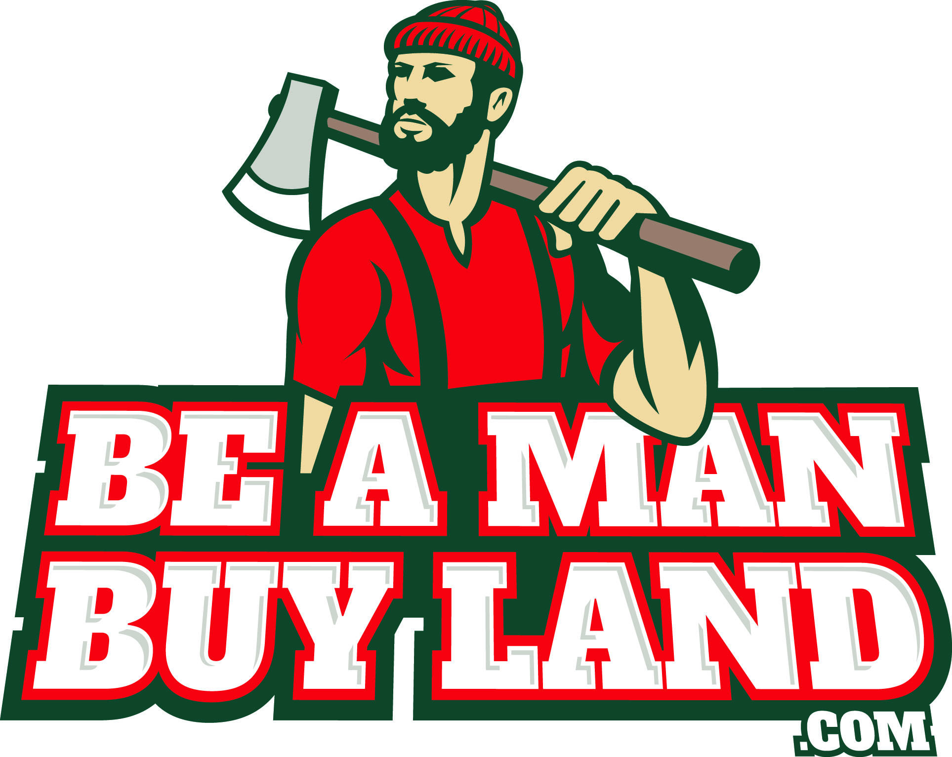 Be a Man Buy Land logo