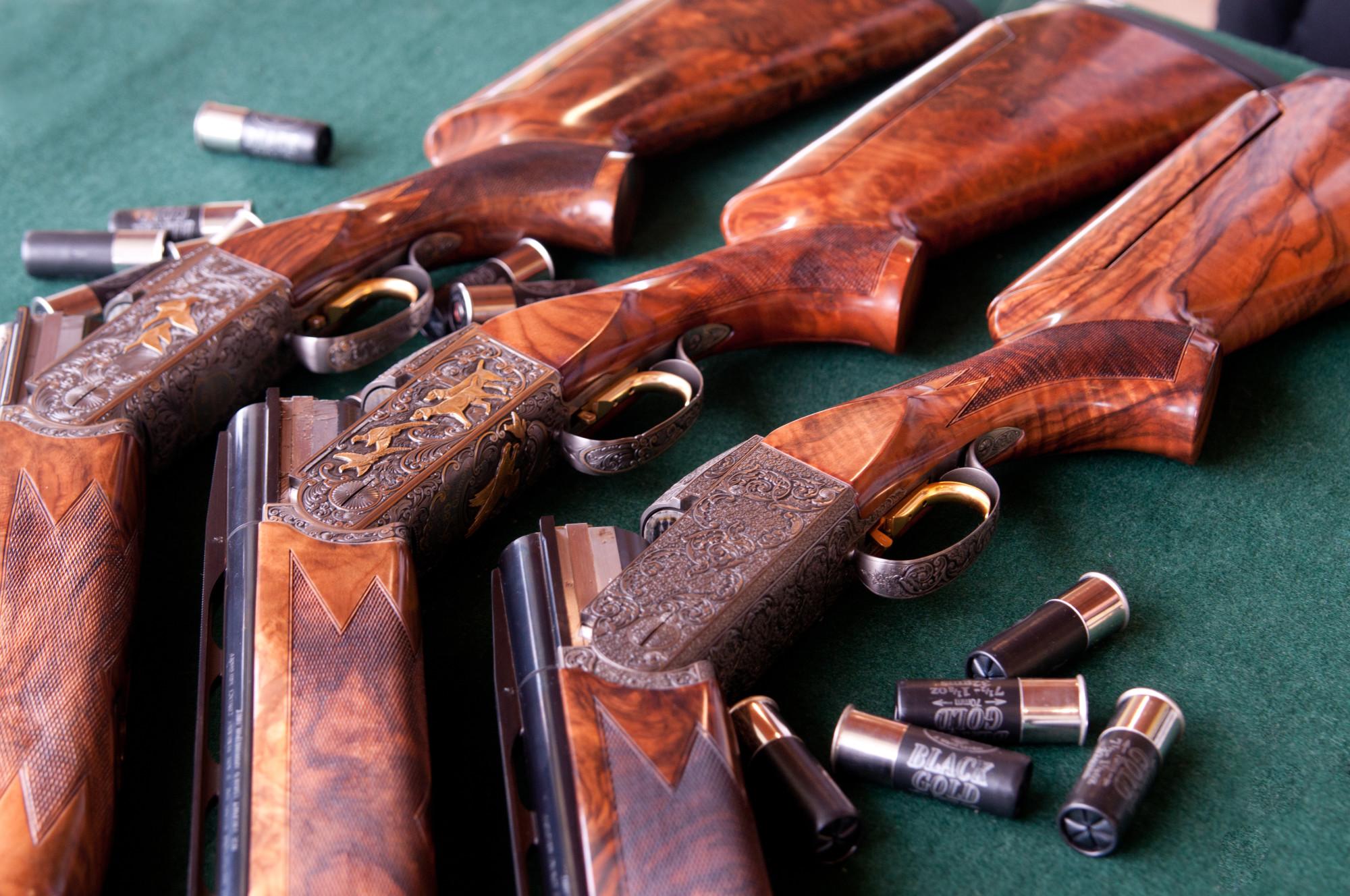 clay shoot gun background