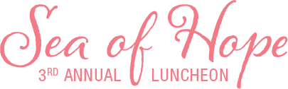 2018 Sea of Hope Luncheon logo coral pink