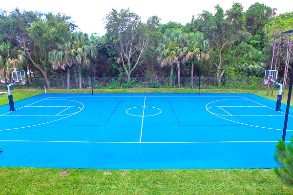 Gray Fitness basketball court