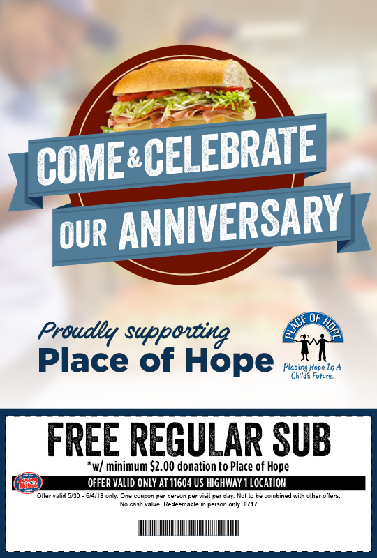 image about Jersey Mike's Printable Coupon identify Jersey Mikes Free of charge Sub Deliver Again