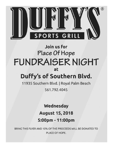 Duffy's Dine for Hope 08.15.18