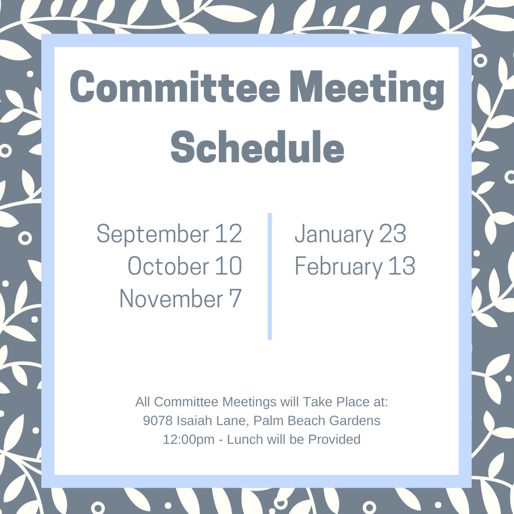 HB Committee Meeting Schedule 2019
